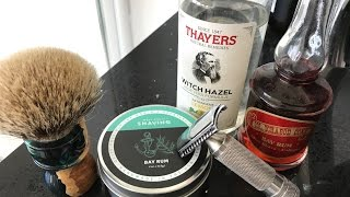 West Coast Shaving Razor and Bay Rum Soap Review! WOW!!!!