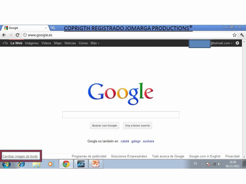 Como poner una imagen de fondo de pantalla en google - Como poner una mosquitera ...