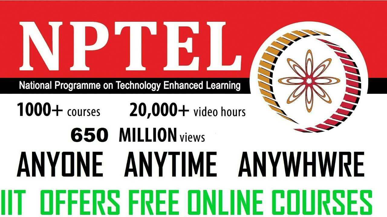 Free Online Course And Certificate By Iits Youtube