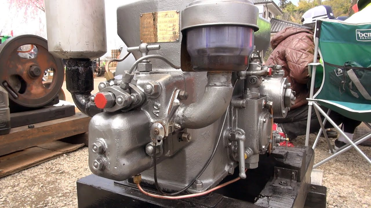 Old Engines in Japan 1959 DAIHATSU Diesel Engine Type OL-9AS 7 5ps