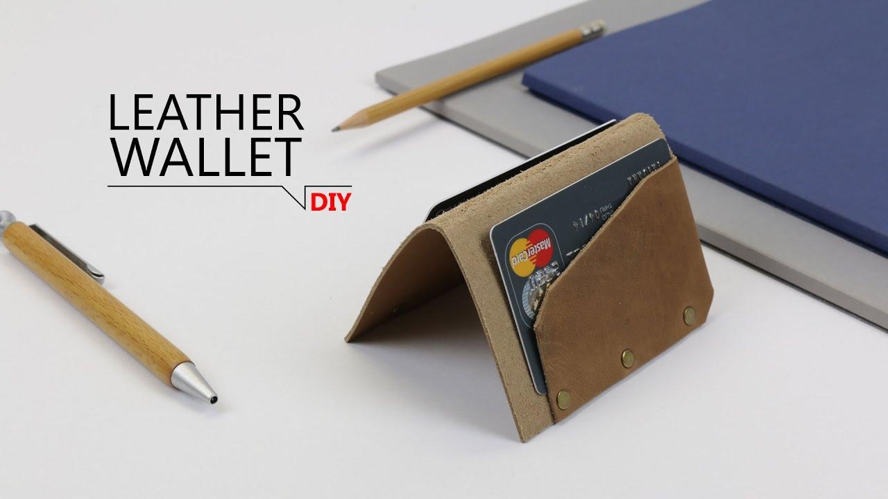 DIY - Geldbörse aus Leder in 5 Minuten // FREE TEMPLATE - YouTube