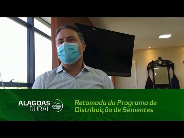 Governador Renan Filho anuncia a retomada do Programa de Distribuição de Sementes em Alagoas