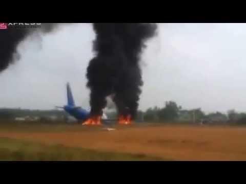 GamethuVN- máy bay vietnam airline gặp nạn bốc cháy