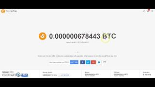 CRYPTO TAB BTC  MINING USING GOOGLE CHROME EXTENSION BY: KENJIE SISON