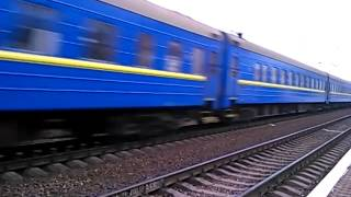 [УЗ] Железная дорога - Электровоз ЧС7-314 с фирменным поездом 120 Запорожье - Львов(Электровоз ЧС7-314 с фирменным поездом 120 Запорожье - Львов, станция Сухачёвка Приднепровской железной дороги..., 2014-04-13T09:31:01.000Z)