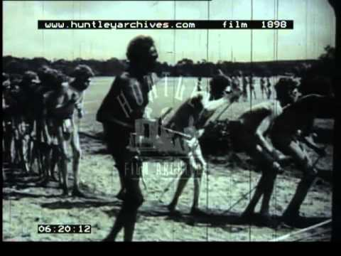 Film about a tribe of Australian Aborigines, 1950's -- Film 1898
