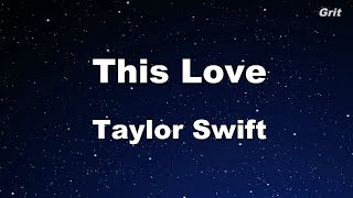 This Love - Taylor Swift Karaoke【No Guide Melody】