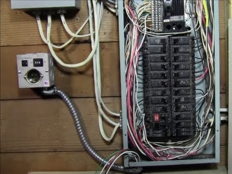 RicksDIY How to Wire generator transfer switch to a circuit breaker panel DIY install Instructions