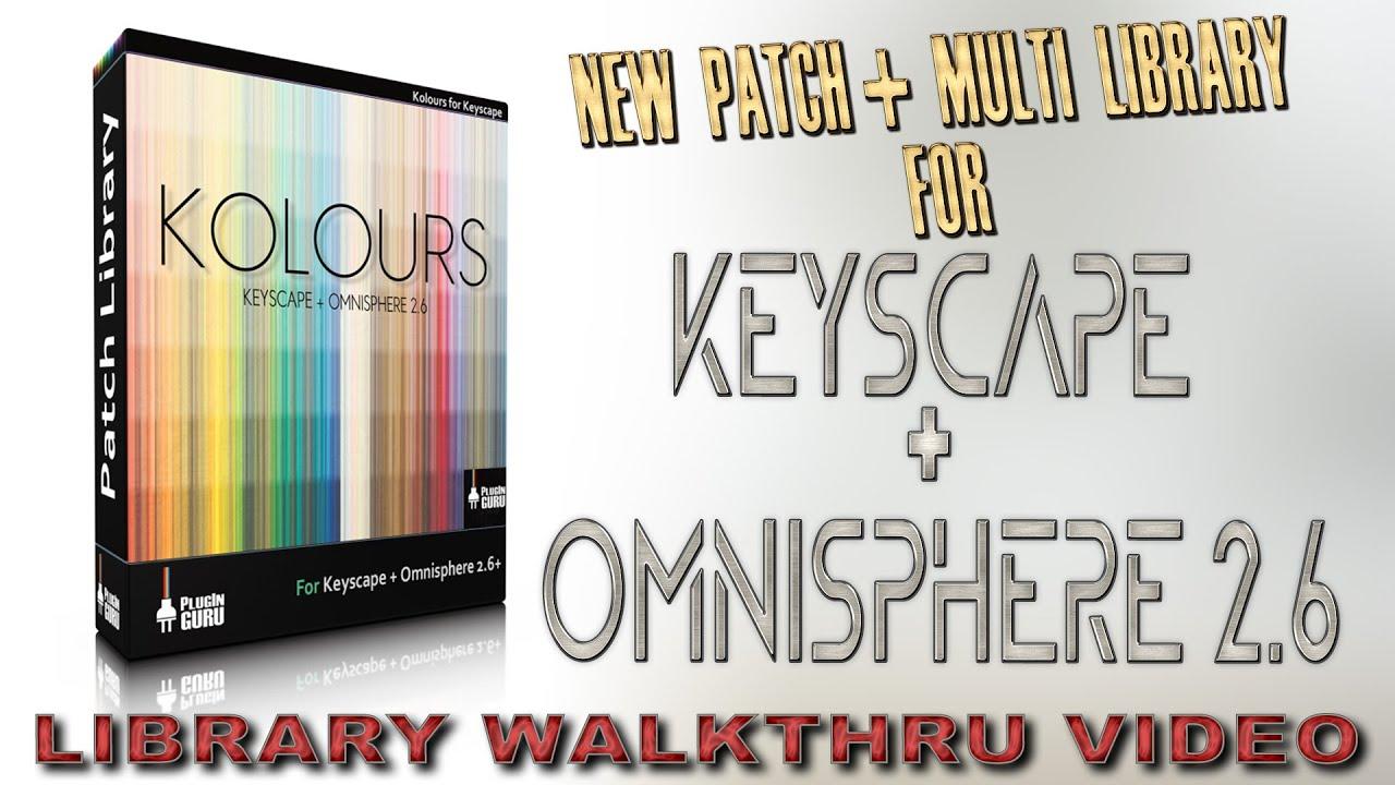 PlugInGuru releases Kolours sound library for Spectrasonics Keyscape