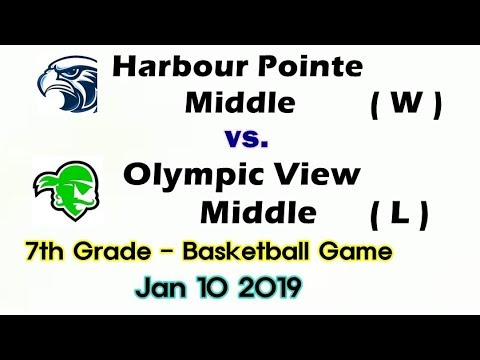 FULL game.Basketball.1.10.2019. Harbour Pointe middle school vs. Olympic View middle school.