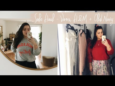 WINTER CLOTHING HAUL   |   SALE SHOPPING FROM H&M, VANS & OLD NAVY  |  LeChelle Taylor Aldridge