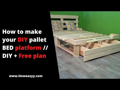 How to make your DIY pallet BED platform // DIY + Free plan