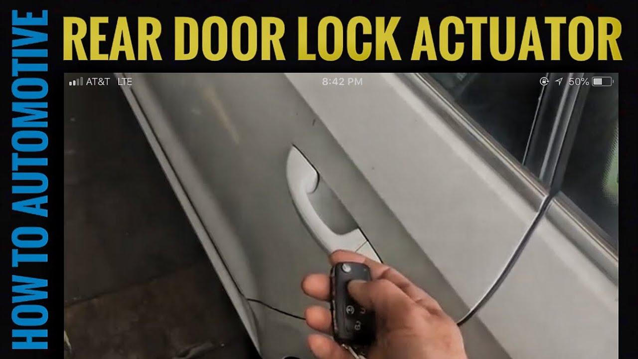 How To Replace The Rear Door Lock Actuator On A 2005 2015 B7 Volkswagen Passat Youtube