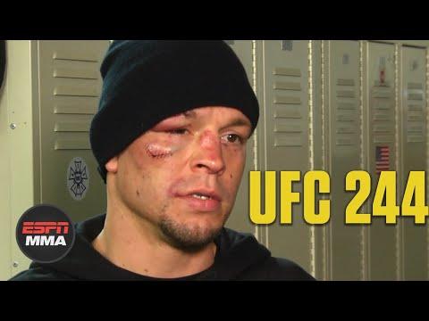 Nate Diaz Upset About Stoppage Due To Cut Vs. Jorge Masvidal   UFC 244   ESPN MMA