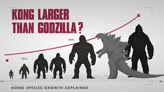 KONG TITAN LARGER THAN GODZILLA? || Kong Species Growth EXPLAINED