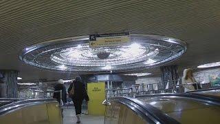 . Москва-Курская. Поездка на эскалаторе метро (Курский вокзал-Атриум)
