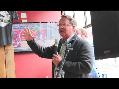 Sen. Gary Peters Talks Line 5 on Mackinac Island