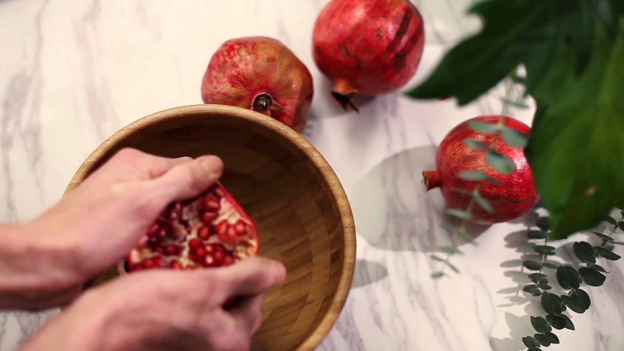 hur skalar man granatäpple