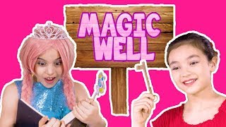 TRIP TO THE MAGIC WELL🔮The Zuzaan Pennies Change Everything! - Princesses In Real Life | Kiddyzuzaa