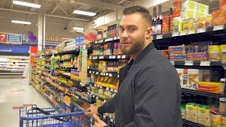 Bodybuilding On A Budget- Grocery Shopping on the Road With Chris Bumstead