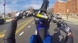 yz250 work in traffic