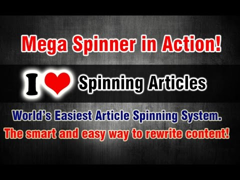 Easy article spinner