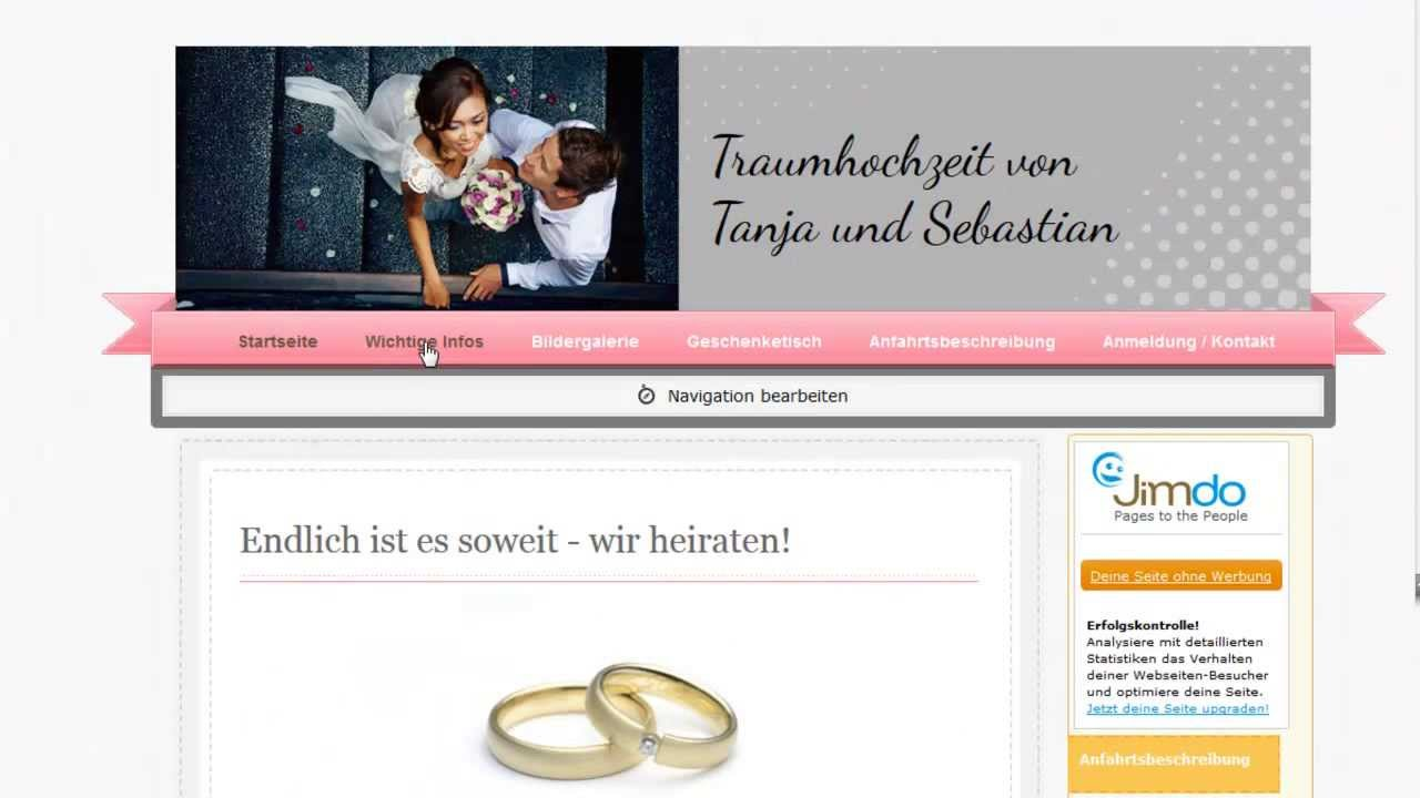 hochzeitshomepage kostenlos erstellen - Hochzeitshomepage Beispiele