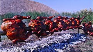 دجاج محشي بالارز ومشوي عل فحم | تتبيلة جديدة | اكلات عراقية