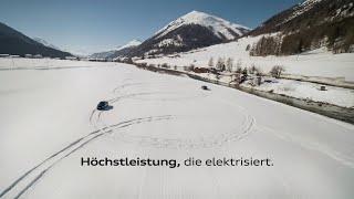Drift by Performance: Audi und Swiss-Ski im Schnee.
