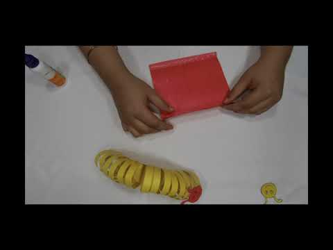 How to make a DIY paper worm I Making simple paper worm for kids 😂