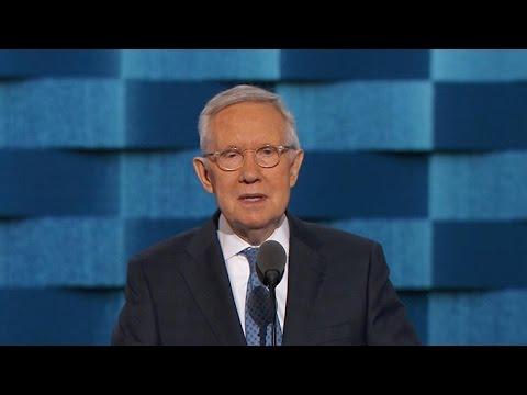 Sen. Harry Reid addresses DNC