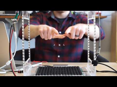 Rotating and Scaling a Levitating Cube