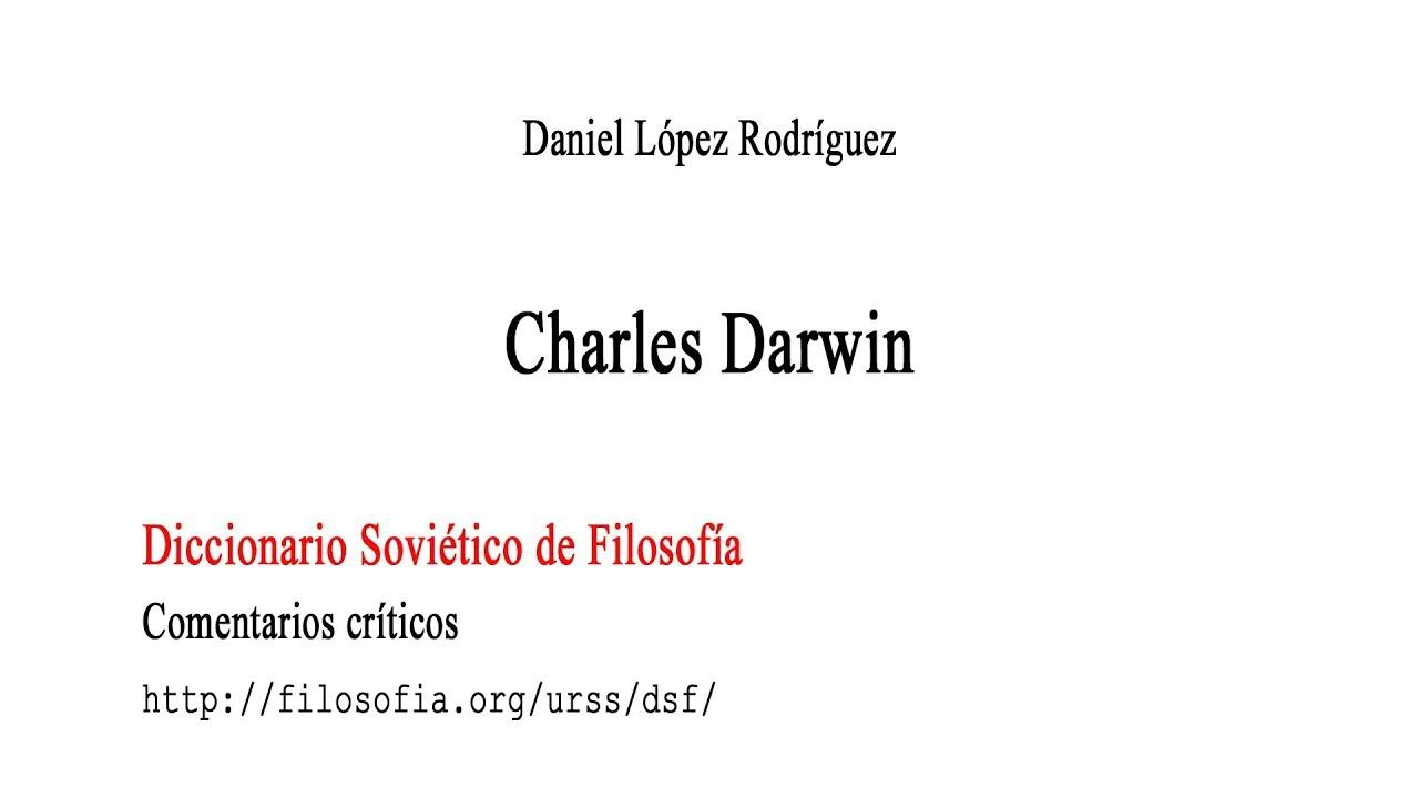 Carlos Darwin En El Diccionario Soviético De Filosofía