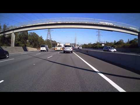 Kawasaki Ninja GPX250R on Monash Freeway during daily commute (Melbourne, Victoria, Australia)