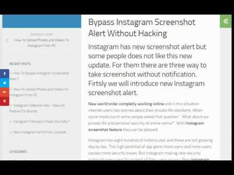 How To Bypass Instagram Screenshot Alert ? - 2018