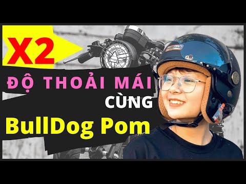 Cách nhân đôi sự thoải mái bằng việc sử dụng nón bảo hiểm Bulldog Pom