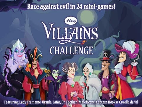 Disney Villains Challenge | Game App for Kids