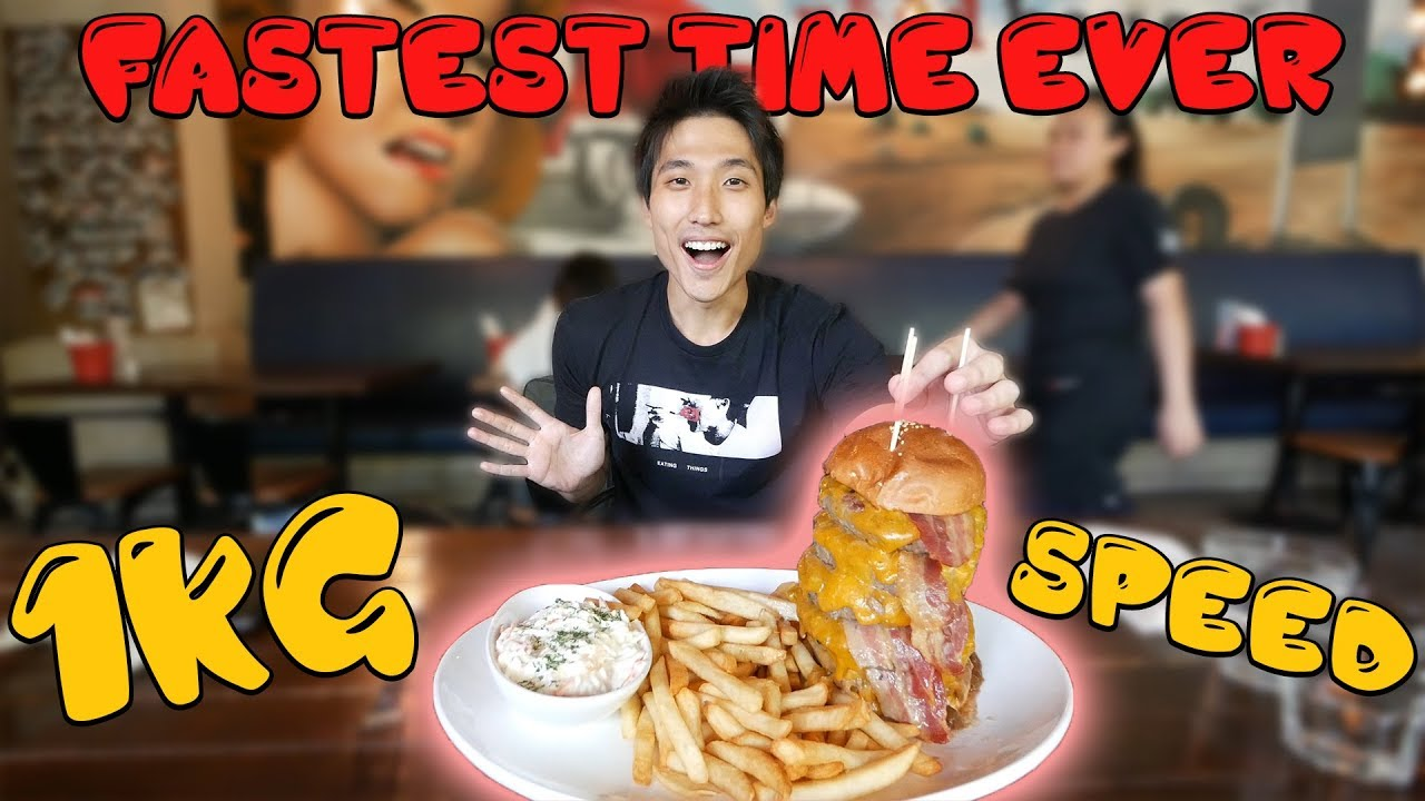 Roadhouse Terminator Burger Challenge! - RECORD SMASHED!