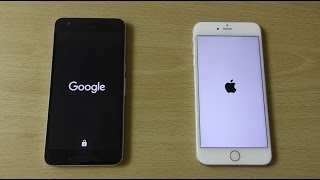 Nexus 6P Android 7.0 Nougat DP5 vs iPhone 6S+ iOS 10 Beta 3 - Speed Comparison!