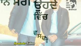 Vadda Bai | Gurtaj | WhatsApp Status by Harwinder Sidhuz | New Punjabi Song 2018