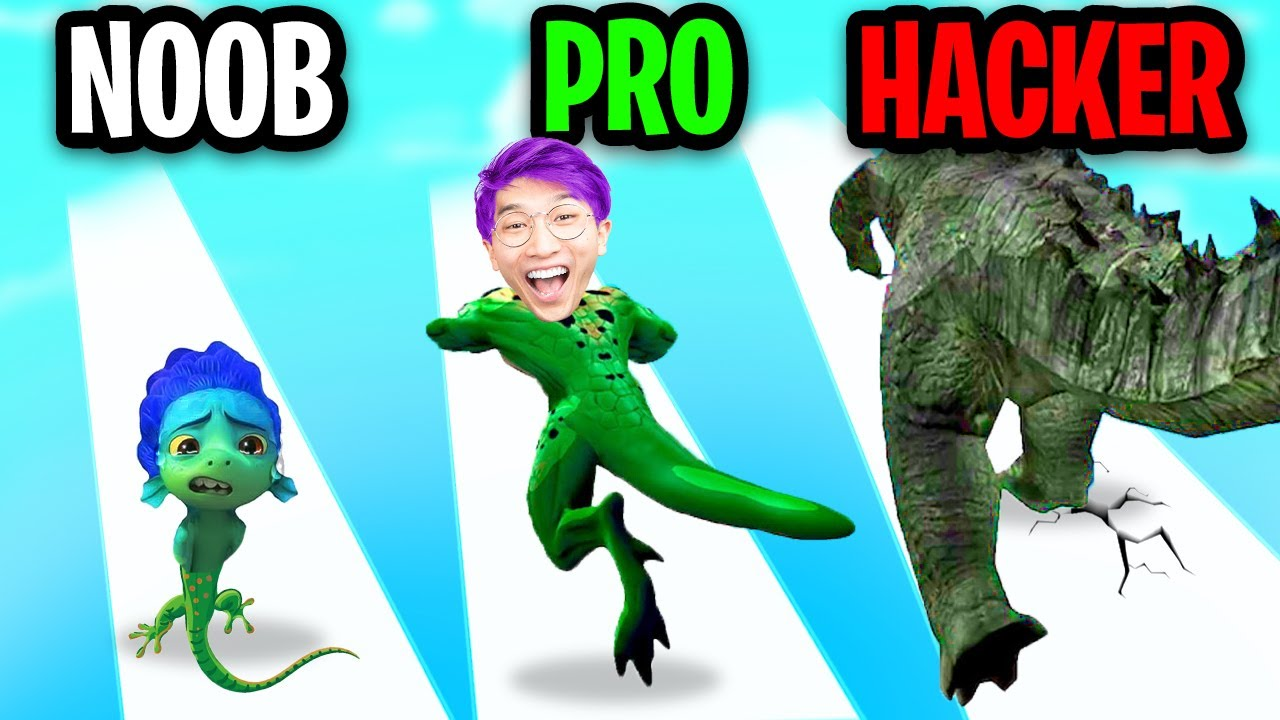 Download NOOB vs PRO vs HACKER In KAIJU RUN!? (ALL LEVELS!)