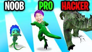 NOOB vs PRO vs HACKER In KAIJU RUN!? (ALL LEVELS!)