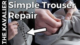 Repair Trouser Seam with A (Simple) Hand Stitch + Bar Stitch | Tailor Series