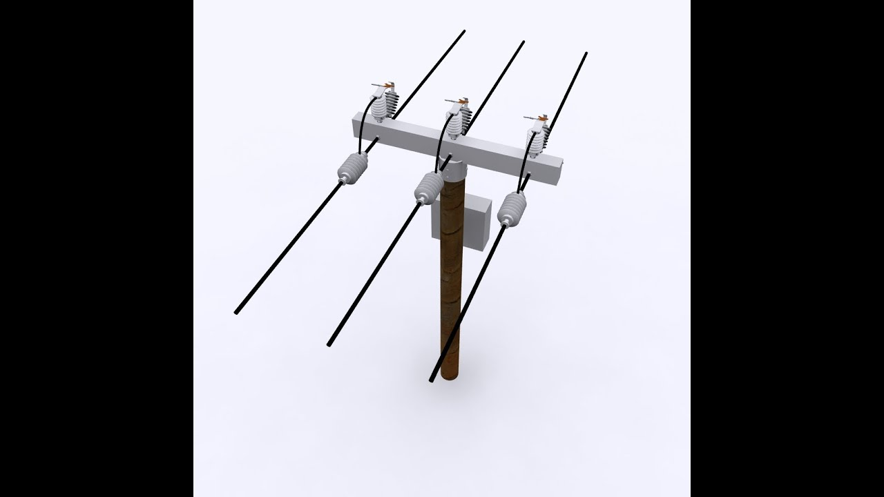 electrical post 3d model youtube