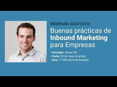 Webinar: Buenas prácticas de Inbound Marketing para Empresas