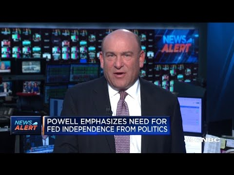 Powell emphasizes need for Fed independence from politics