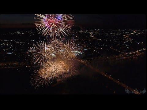 Фейерверк на День города / Красноярск  / DJI Inspire 1
