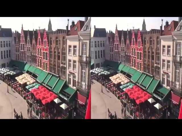 Vídeo en 3D lado a lado de Brujas - Bélgica Brugge