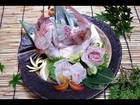 【鯛の姿造り】天然真鯛の捌き方、盛り付け方、 お祝い用に