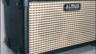 Ampli gitar Almus mini 2 speaker  dan 2 input